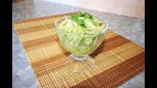 Салат из зеленой редьки с маслом