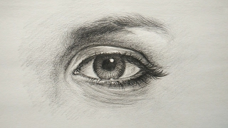 eye simple drawing draw pencil tutorial drawings paintingvalley apk android