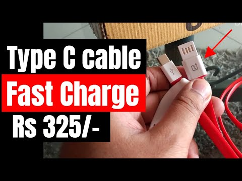 OnePlus Style Type C Cable With Fast Charge Review Amazon | Dash Charge?  | Hindi | BintooShoots