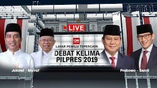 LIVE NOW! Laga Panas Debat Pamungkas Jokowi-Maruf Vs Prabowo-Sandiaga; PascaDebat Pilpres 2019