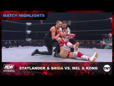 Brandi Rhodes & Mel gang up on Hikaru Shida in the AEW ring