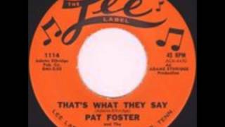 PAT FOSTER & THE QUINTONES - IN THE DOORWAY CRYING - LEE 1114 - 1961