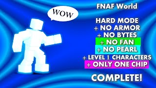 scott cawthon boss all level 1s no bytes armor fan pearl insta kill one chip   fnaf world 3d