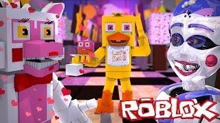 BALLORA FALLS IN LOVE WITH MANGLE?!?! | FNAF Pizzeria Roleplay | ROBLOX