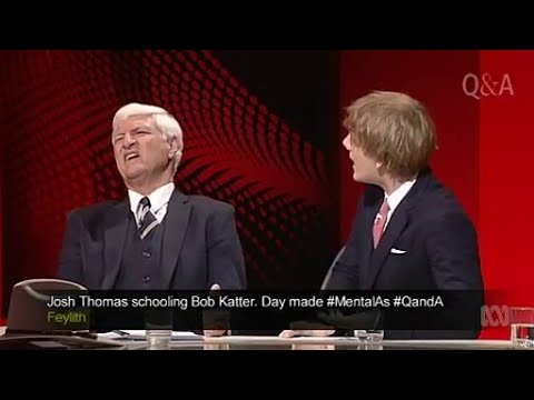 Josh Thomas owns Bob Katter on Gay Mental Heath Issues