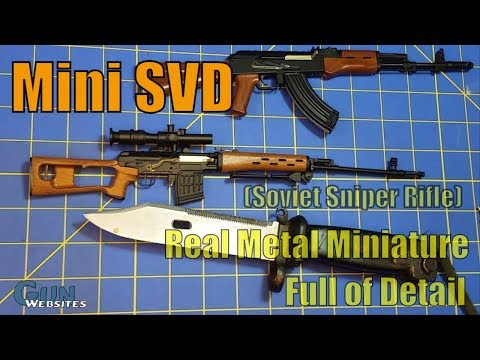 Mini SVD (Soviet Sniper Rifle) - GoatGuns.com - Real Metal Miniature, Full of Detail