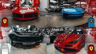 Autos in Dubai... La Ferrari, Lamborghini Aventador SV usw.