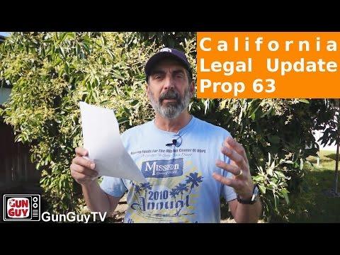 California Prop 63 Legal Update - Part 1