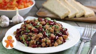 Салат с фасолью по-грузински (постный)