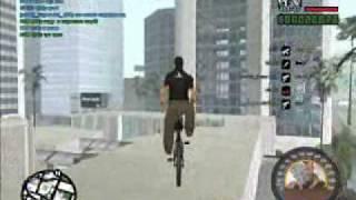 Трюки на BMX и Горном Байке в GTA San Andreas ( SA:MP )(http://playtheme.ru Говно редкостное, а удалять жалко :3 Видео снималось давно, воспринимать его всерьез не нужно...., 2010-02-05T19:16:40.000Z)