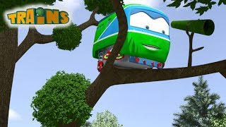 Train cartoon | Super wings | Collection 4