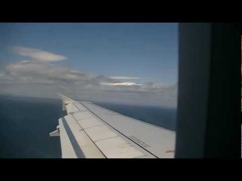 Approach difficult and turbulent landing in Punta Arenas HD