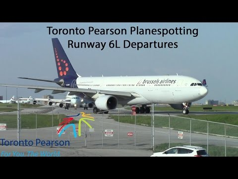 International Flights Departing Runway 06L at Toronto Pearson Int'l - May 22, 2016