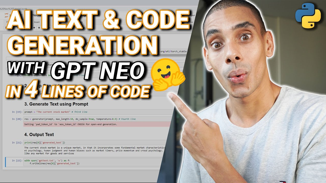 AI Text and Code Generation with GPT Neo and Python | GPT3 Clone