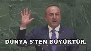Dünya'da mazlumların sesi olan ülkemizin sözcüsü,Dışişleri Bakanımız Sn. Mevlüt Çavuşoğlu