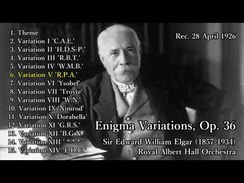 Elgar: Enigma Variations conducted by Elgar (1926) エルガー エニグマ変奏曲 自演