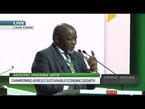 SA Minister Gwede Mantashe Opens Africa Mining Conference 2019