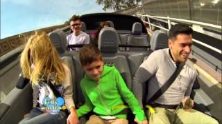 """Kelly Ripa and Family at Disney World Test Track on """"LIVE with Kelly and Michael"""""""