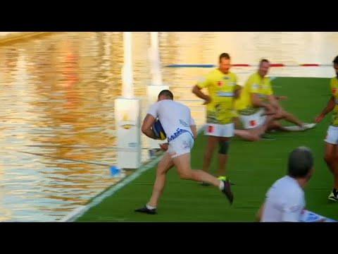 NO COMMENT: Rugby na água é no sul de França