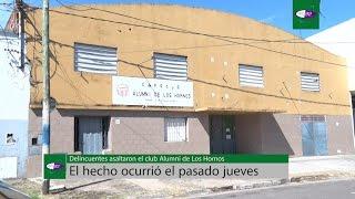 Delincuentes asaltaron el club Alumni en Los Hornos