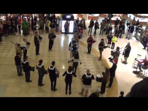 Bagpipe Holiday Flash Mob 2014