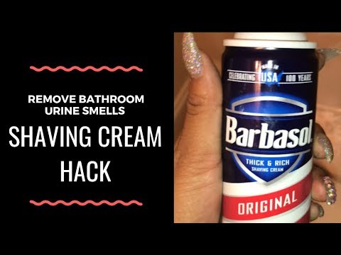 Remove Urine Smells from Bathroom | Shaving Cream Cleaning Hack | Quick & Easy