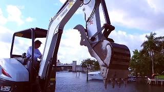 Video still for Florida Excavation Contractor Becomes One-Stop Shop with Bobcat R-Series E35