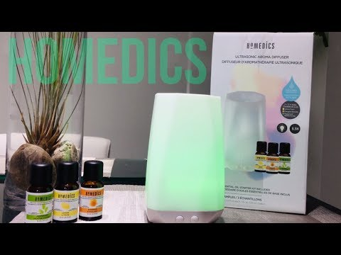 homedics-connect-aroma-diffuser-+-bonus-essential-oils,-3-pk-unboxing-&-set-up-manual