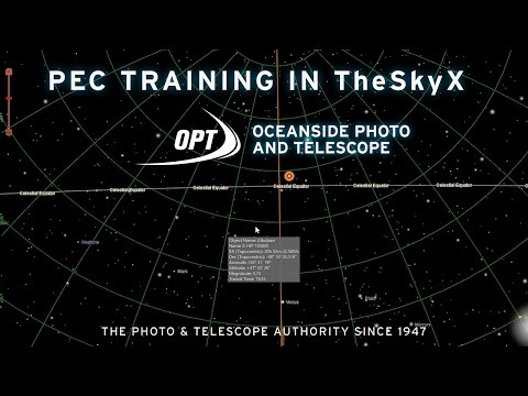 PEC (Periodic Error Correction) Training in TheSkyX with Charles Walker- OPT