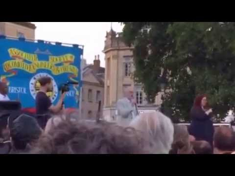 Jeremy Corbyn speaking on College Green in Bristol