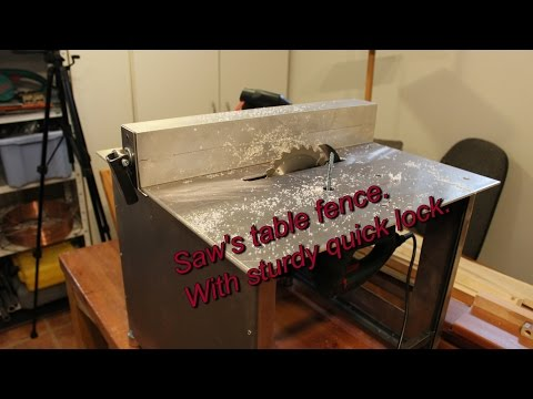Metal working: Fence to my Saw's table