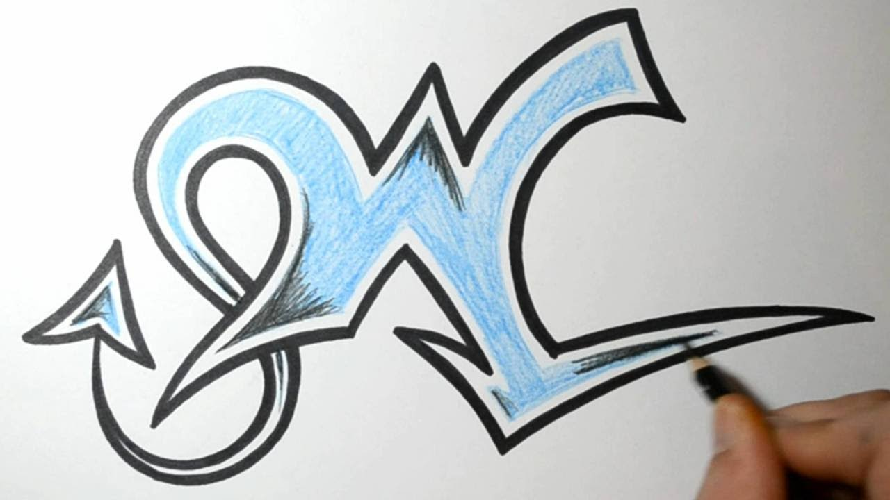 how to draw graffiti letters - w