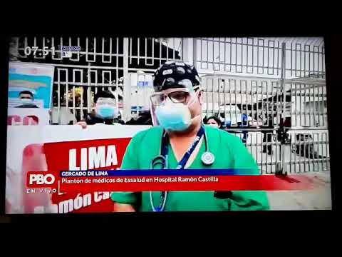 Médicos de Hospital Castilla iniciaron plantones de protesta exigiendo destitución de F. Molinelli