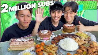 JAPANESE TRIES FILIPINO BOODLE FIGHT!【2M SUBSCRIBERS PARTY】