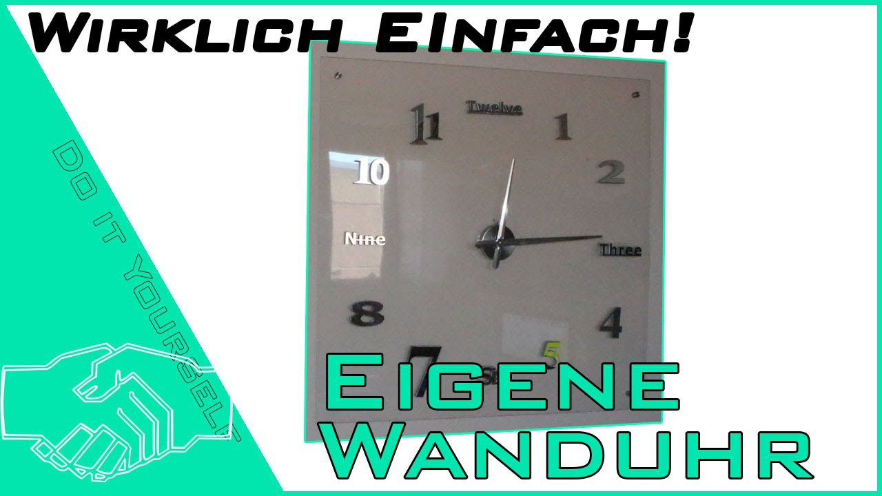 uhr zum selber basteln elegant diy uhr selbst basteln mittels auf einer leiwand with uhr zum. Black Bedroom Furniture Sets. Home Design Ideas