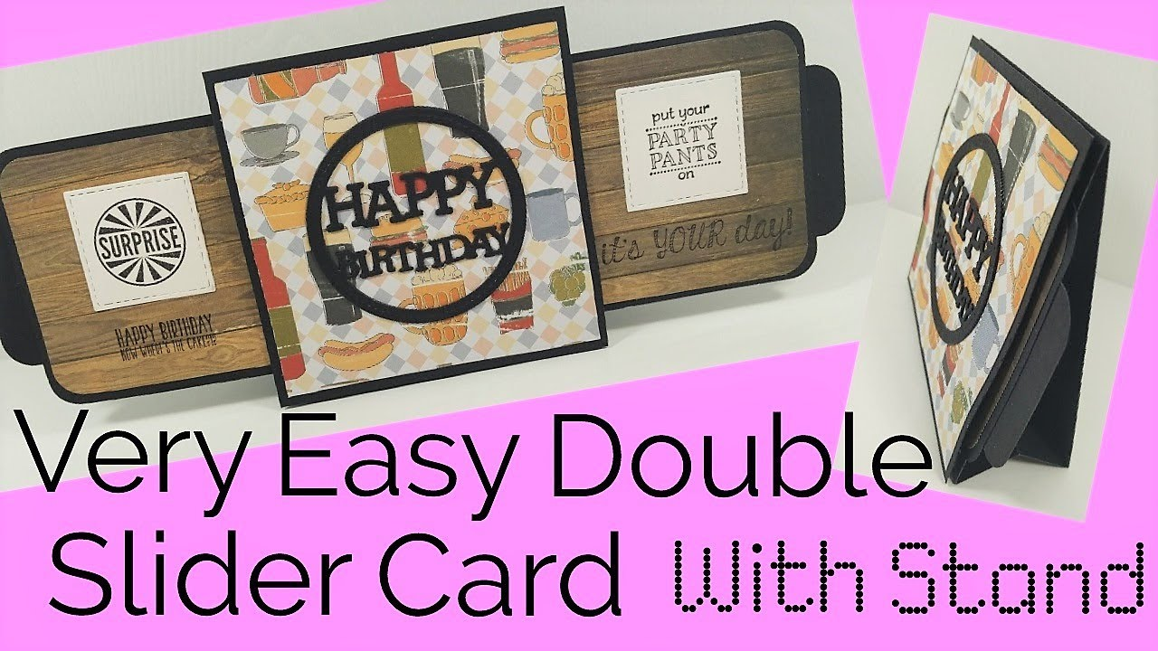 Double slider card assembly instructions.
