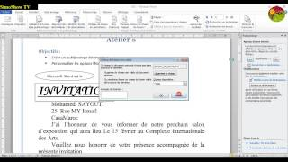 Formation Word 2010: Créer un publipostage électronique -- Ateliers MOS 5 - francais