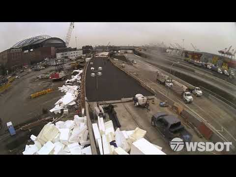 5 weeks in 1 minute: Time-lapse video shows construction of new SR-99 off-ramp at S. Dearborn St.