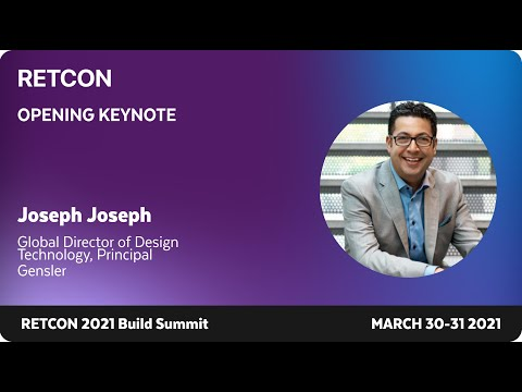 Opening Keynote: Joseph Joseph, Global Director of Design Technology, Gensler
