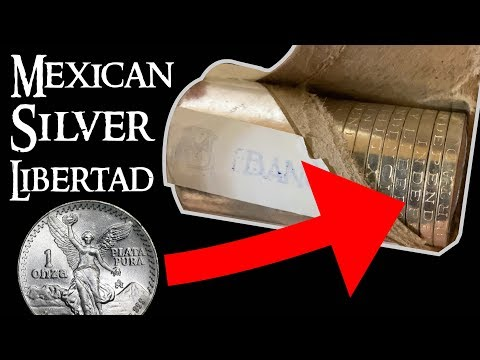 Opening A Roll Of Mexican Silver Libertad Coins!