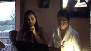 "Alex and Toni singing ""All I Ask of You"""