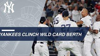 Yankees clinch AL Wild Card berth on a walk-off