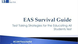 Teacher Ed webinar: EAS
