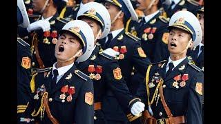 Quân đội, an ninh, cảnh sát diễu binh diễu hành hùng tráng