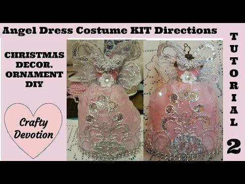 Pink Angel 2 dress KIT decor christmas ornament shab chic tutorial  Crafty Devotion
