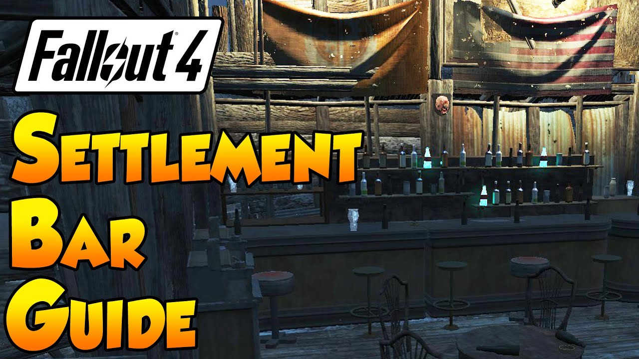 Fallout 4 settlement guide settlement bar youtube for Best house designs fallout 4