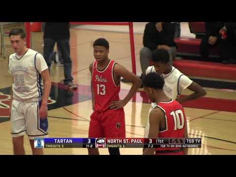 High School Boys Basketball: Tartan vs. North St. Paul