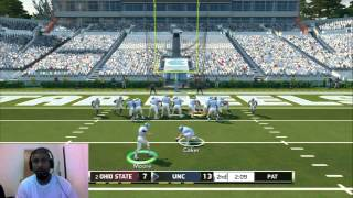 NCAA football 14 UNC VS Ohio ST ONLINE ranked MATCH