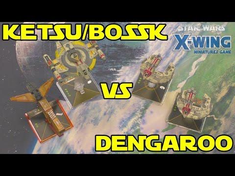 Star Wars X-Wing: Ketsu/Bossk VS Dengar/Manaroo (POST MAR 2017 FAQ)