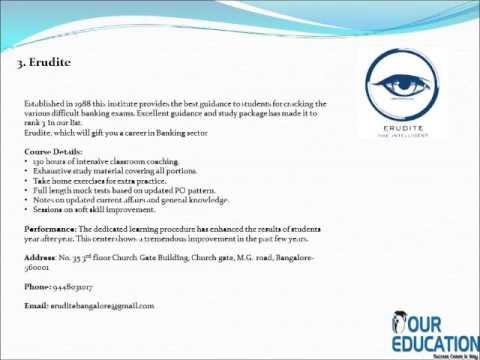 Top Bank Coaching Institutes in Bangalore